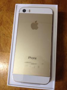 iPhone5sシャンパンゴールド
